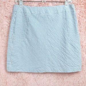 Sandro Blue & White Seersucker Mini Skirt Size 8